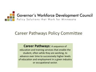 Career Pathways Policy Committee