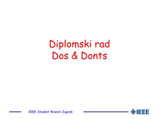 Diplomski rad Dos & Donts