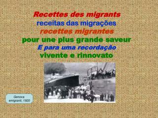 Recettes des migrants receitas das migraç ões recettes migrantes pour une plus grande saveur