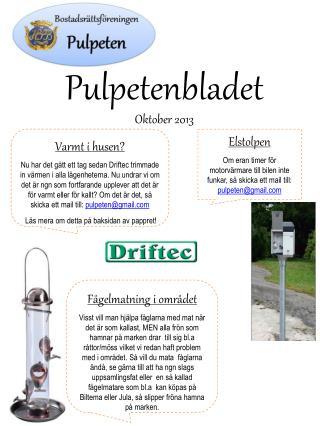 Pulpetenbladet Oktober 2013