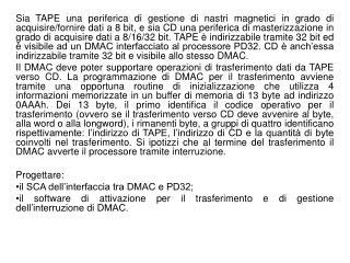 Logica dell'interfaccia del DMAC per le interruzioni