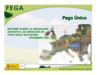 COMPARACION DE LOS IMPORTES DE LOS DERECHOS DE PAGO UNICO