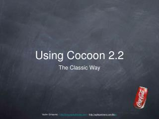Using Cocoon 2.2
