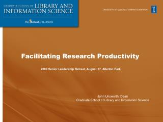 Facilitating Research Productivity
