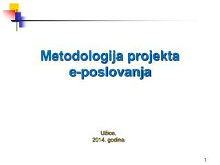 Metodologija projekta  e-poslovanja