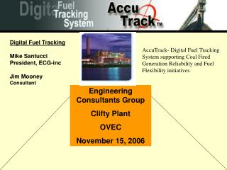 Engineering Consultants Group  Clifty Plant OVEC November 15, 2006