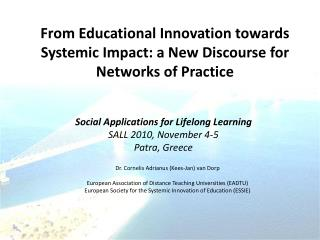 From Educational Innovation towards Systemic Impact: a New Discourse for Networks of Practice