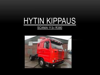 Hytin kippaus Scania 113 H  R380