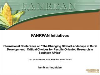FANRPAN Initiatives