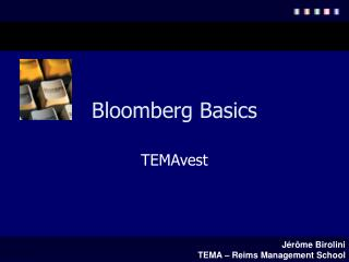 Bloomberg Basics