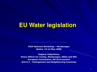 EU Water  legislation