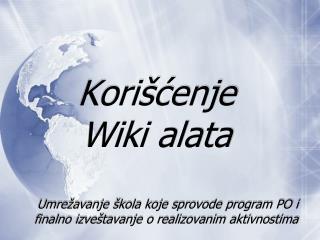 Korišćenje Wiki alata