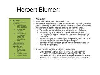 Herbert Blumer: