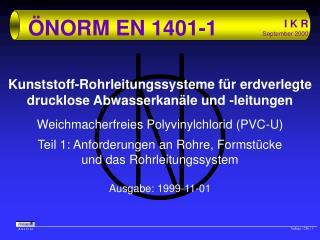 ÖNORM EN 1401-1