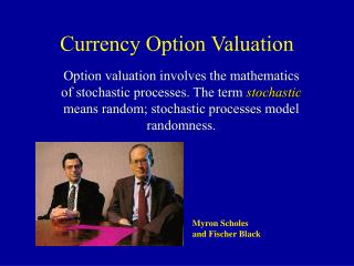 Currency Option Valuation