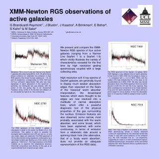 XMM-Newton RGS observations of active galaxies