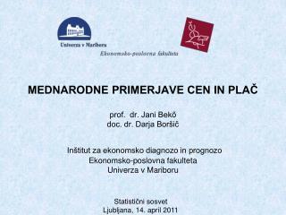 Statistični sosvet Ljubljana, 14. april 2011