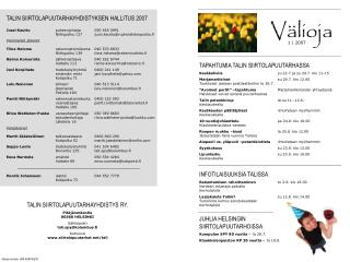 TAPAHTUMIA TALIN SIIRTOLAPUUTARHASSA Kesäkahvila su 22.7 ja su 29.7. klo 11-15