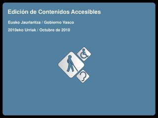 Edición de Contenidos Accesibles