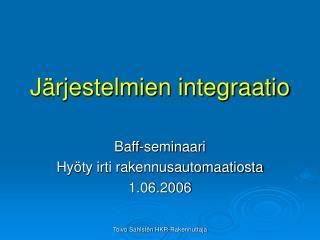 Järjestelmien integraatio