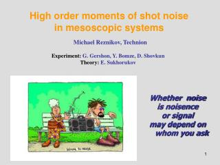 High order moments of shot noise in mesoscopic systems