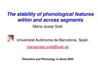 Maria-Josep Solé Universitat Autònoma de Barcelona, Spain mariajosep.sole@uab.es