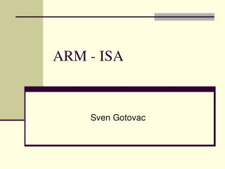 ARM - ISA