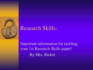 Research Skills-