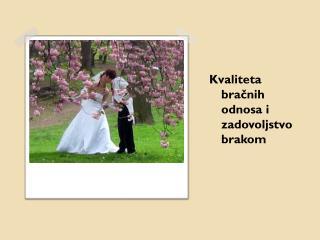 Kvaliteta bračnih odnosa i zadovoljstvo brakom