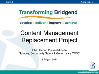 Content Management Replacement Project