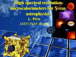 High spectral resolution   microcalorimeters for X-ray astrophysics