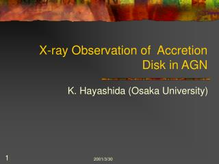 X-ray Observation of  Accretion Disk in AGN