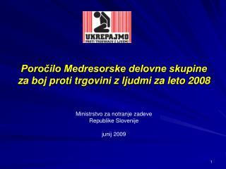 Poročilo MDS 2008