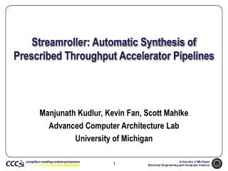 Streamroller: Automatic Synthesis of Prescribed Throughput Accelerator Pipelines