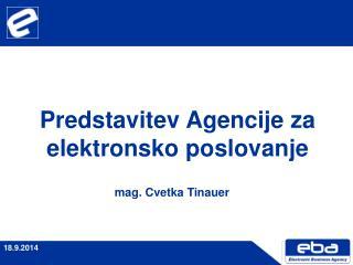 Predstavitev Agencije za elektronsko poslovanje