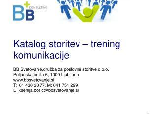 Katalog storitev – trening komunikacije