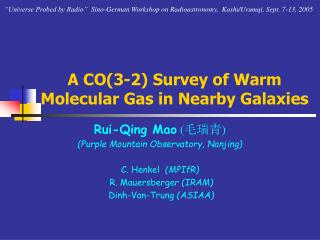 A CO(3-2) Survey of Warm Molecular Gas in Nearby Galaxies