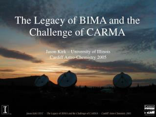 The Legacy of BIMA and the Challenge of CARMA