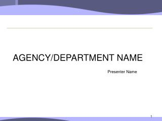 AGENCY/DEPARTMENT NAME
