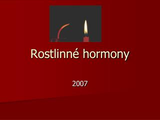 Rostlinné hormony