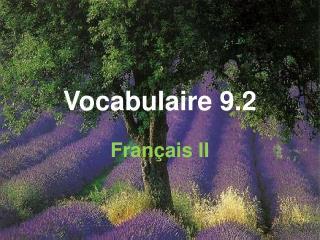 Vocabulaire 9.2