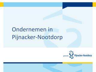 Ondernemen in  Pijnacker-Nootdorp
