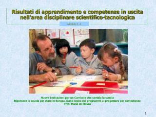 Risultati di apprendimento e competenze in uscita nell'area disciplinare scientifico-tecnologica