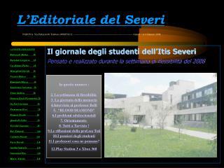L'Editoriale del Severi