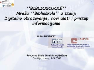 Digitalne knjižnične usluge za akademsku istraživačku mrežu caspur.it