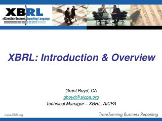 XBRL: Introduction & Overview