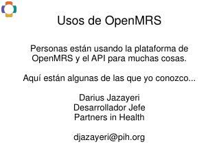 Usos de OpenMRS