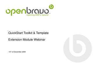 QuickStart Toolkit & Template Extension Module Webinar