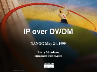 IP over DWDM