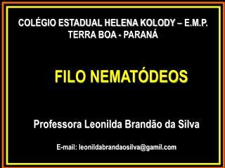 FILO  NEMATÓDEOS